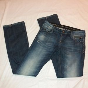 Rerock for Express Distressed Bootcut Jeans Size 6